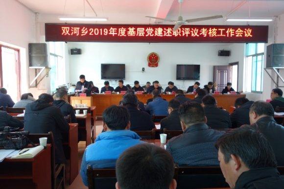 双河乡召开2019年度基层党建述职考评会议