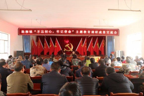 """杨柳镇在""""不忘初心、牢记使命""""主题教育中多举措"""