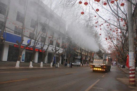 宣威市全城消毒 防控疫情