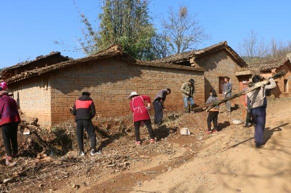龙潭镇开展清除卫生死角提升人居环
