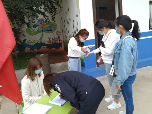 宛水街道开展幼儿园疫情防控检查评估