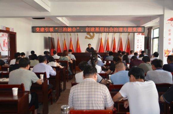 市委常委、组织部部长刘清到宛水街道上党课