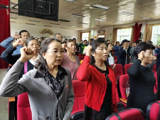 宣威市丰华街道新南社区举办庆祝建党99周年活动