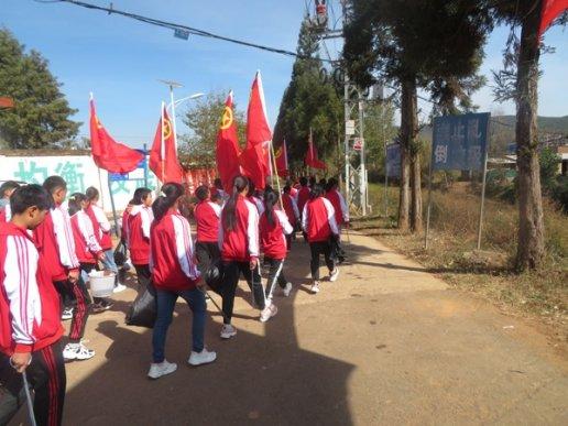 宣威市靖外初级中学持续推进爱国卫生运动
