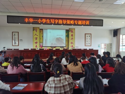 宣威市丰华一小举办学生写字指导策略专题培训