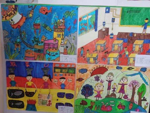 宣威市丰华中心学校开展书法绘画比赛活动