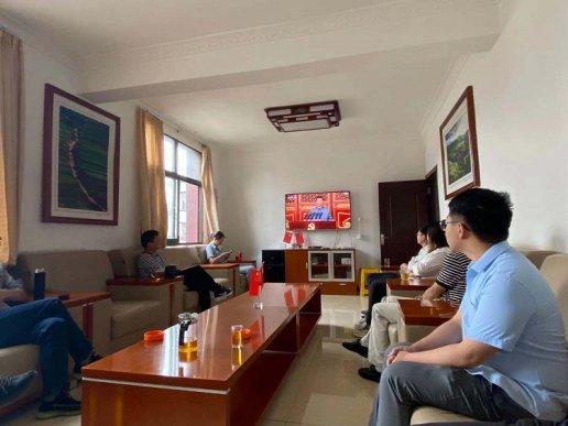杨柳镇集中收看中国共产党成立100周