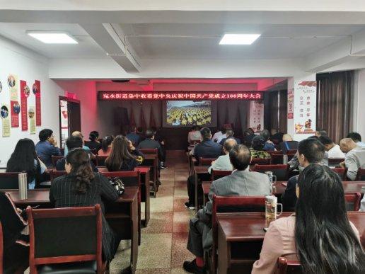 宛水街道组织收看庆祝中国共产党成