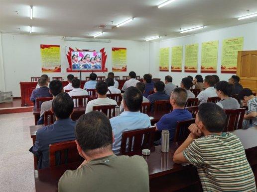 宣威经开区集中收看庆祝中国共产党