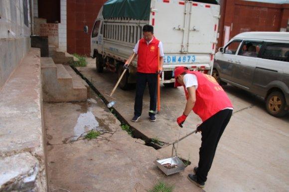 龙潭镇开展环境卫生大扫除志愿服务活动助推创卫创