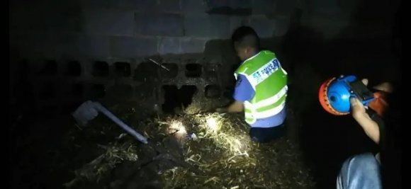 暴雨下,宣威一村民困在牛圈里,交警跳进粪池施救