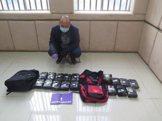 宣威市公安局破获一件万克毒品大案