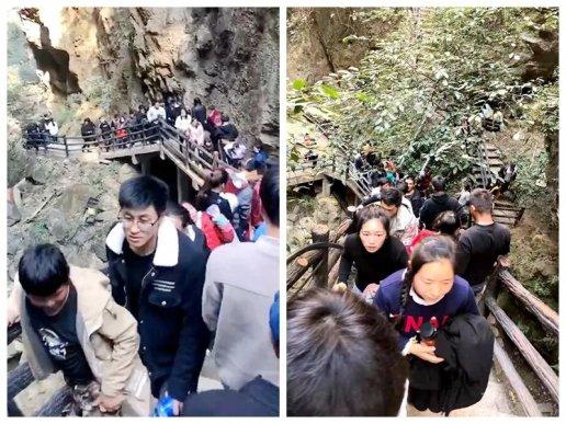 春节期间宣威普立乡尼珠河景区游人