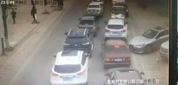 清明节当天 宣威城区全天过车量达