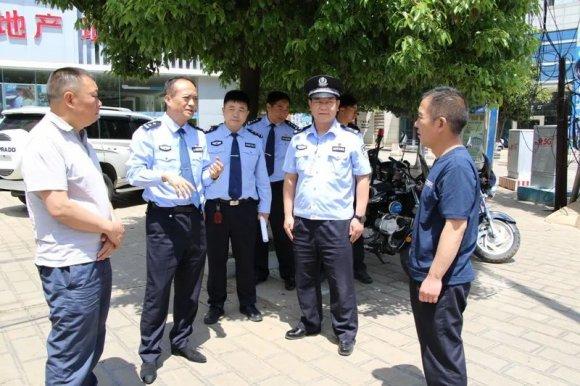 陆良县公安局考察团到宣威考察交流城区巡逻防控机