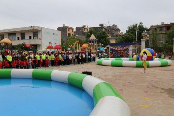 """得禄乡中心幼儿园举行六一""""花样玩水""""活动"""