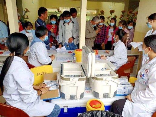 宣威得禄乡疫苗接种工作有序进行