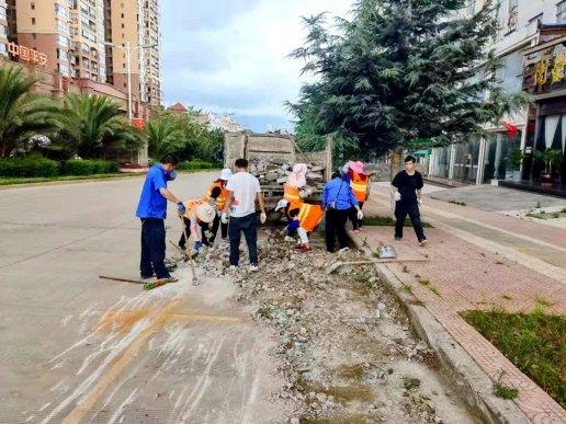 宣威市西宁街道组织开展城市道路路