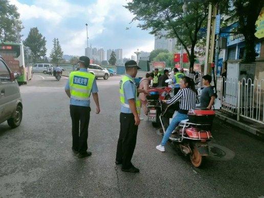 宣威公安交警开展摩托车交通违法整