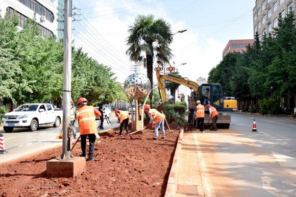 """宣威:改造提升市政基础设施 建设"""""""