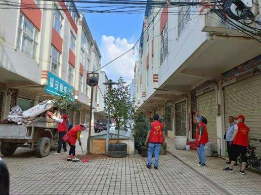 宣威双龙街道:集中整治背街小巷老
