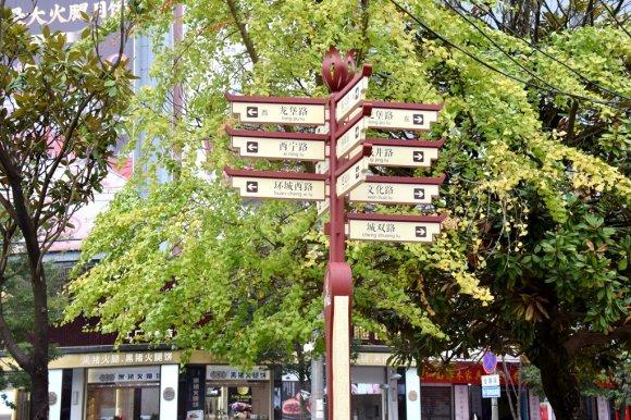 """宣威市城区127块道路导视牌""""上岗"""" 方便市民抬头见""""路"""""""